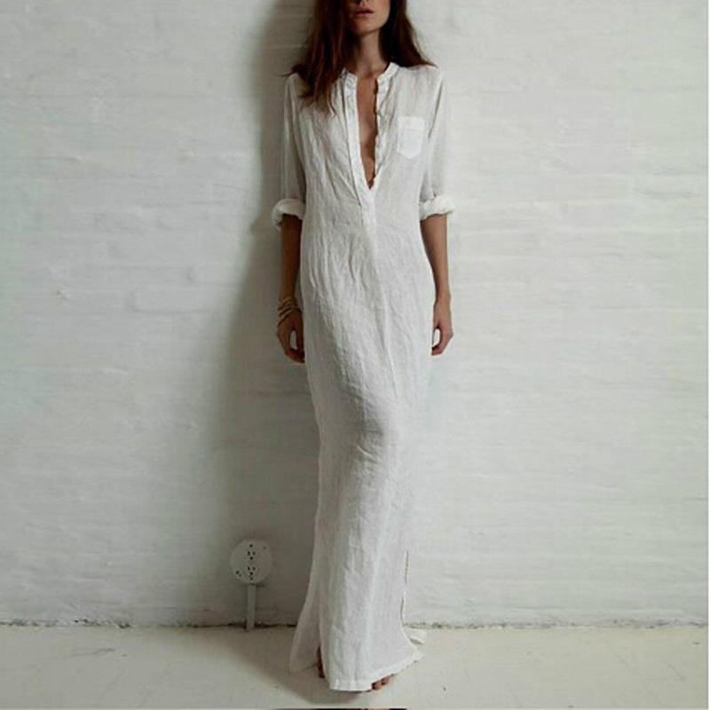 587cfe5ff27 Женское льняное длинное платье летнее купить недорого в интернет ...