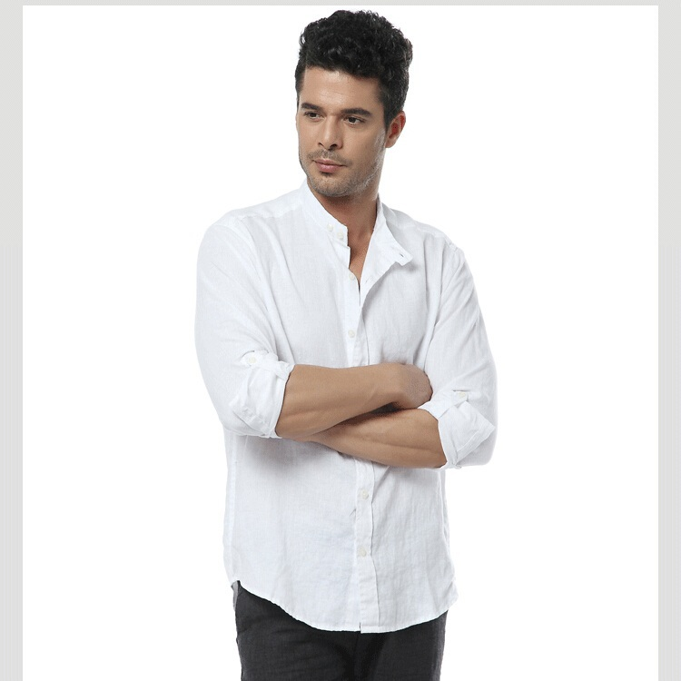 571ed3dc240 Мужская льняная офисная рубашка летняя купить недорого в интернет ...