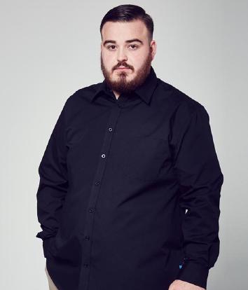 Мужская льняная рубашка большой размер, натуральный лен