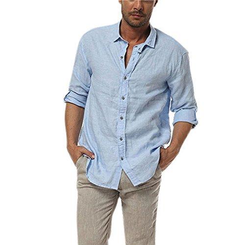 Мужская льняная классическая рубашка. Цвет на выбор.