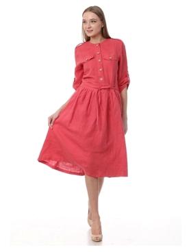 Женские льняные платья