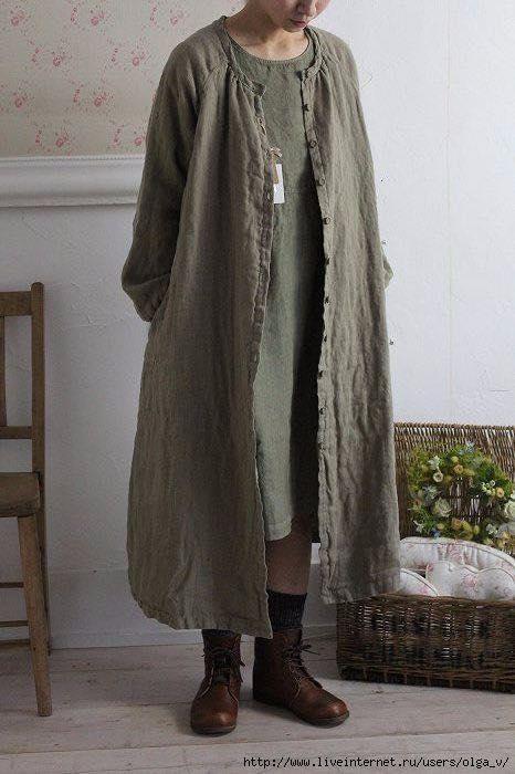 Женский льняной кардиган свободный крой бохо-стиль