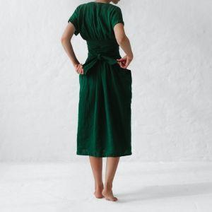 Платье базовое из натурального льна, цвет на выбор ассортимент