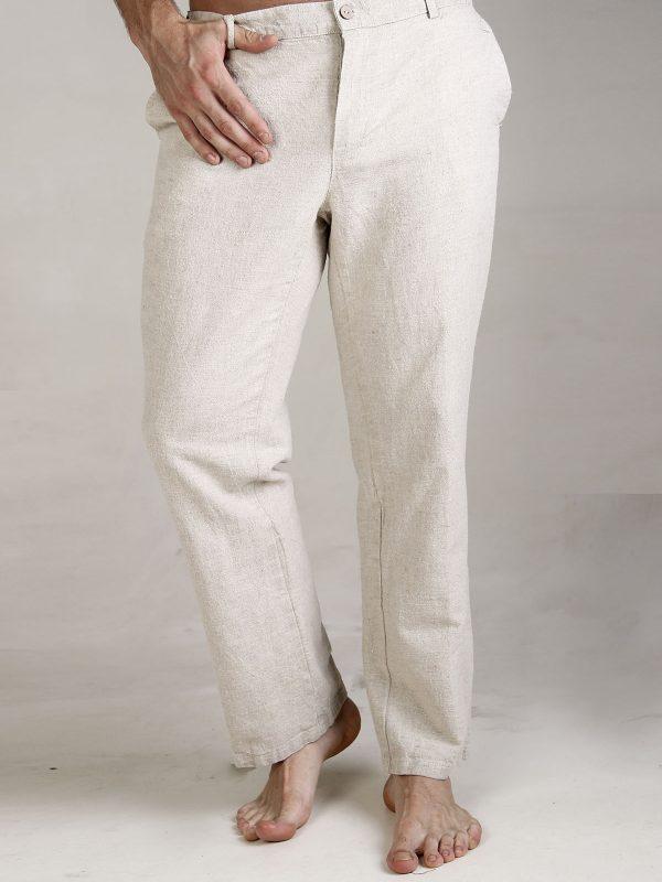 Мужские льняные брюки