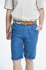Мужские льняные шорты. Одежда большой и стандартный размер