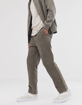 Мужская вельветовая рубашка и брюки из вельвета