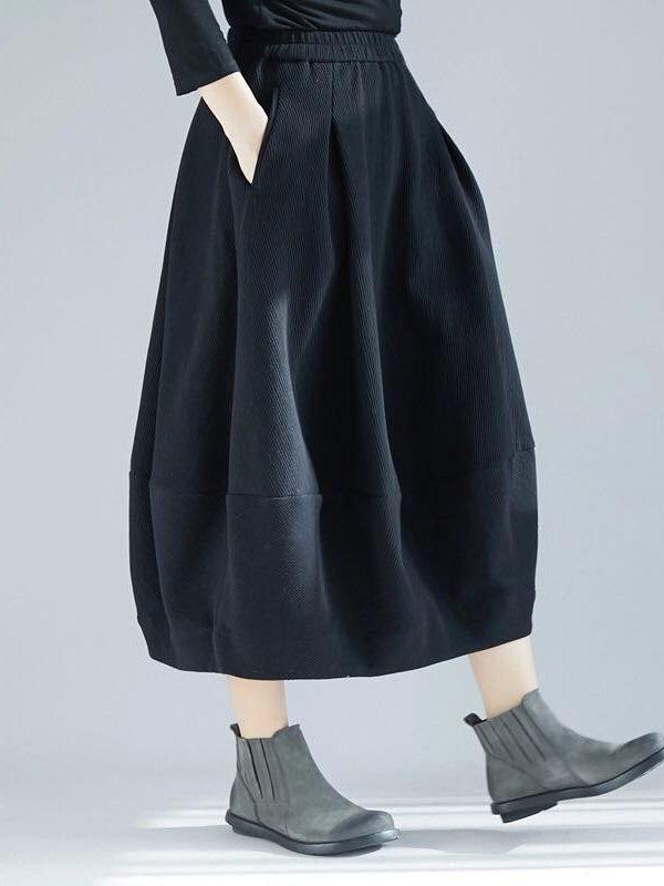Вельветовая юбка-бочонок. Цвет на выбор. Размер 42-74+