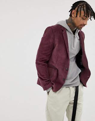 Пиджак в стиле кэжуал. Мелкий вельвет. Размер 42-74+