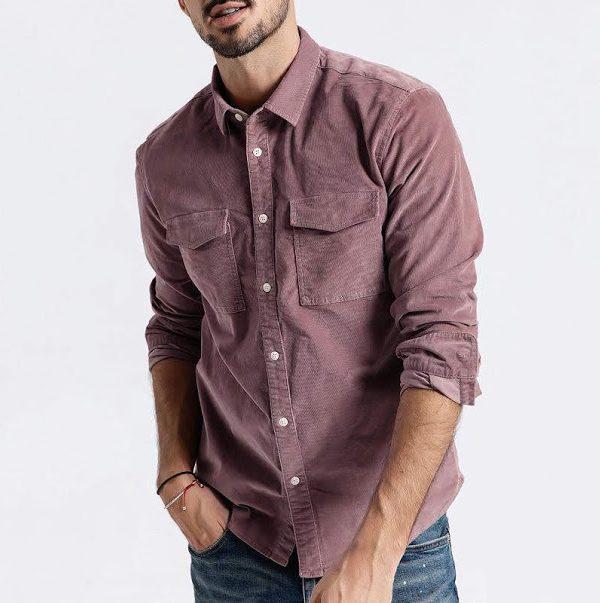 Мужская вельветовая рубашка. Все цвета. Размер 42-74+